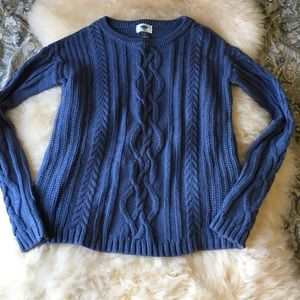 Blue old navy knit sweater